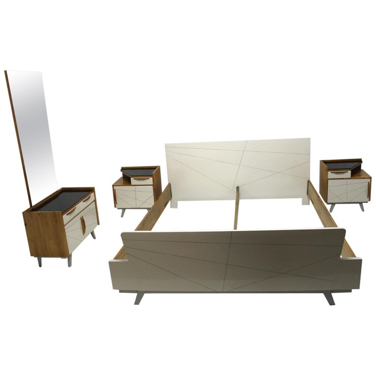 Midcentury Bedroom Set, Expo 58, Czechoslovakia For Sale