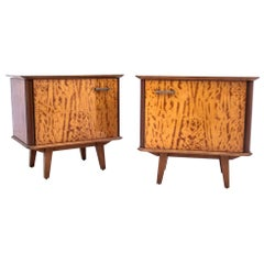 Midcentury Bedside Tables, Poland, 1950s, after Renovation