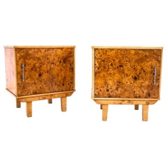 Midcentury Bedside Tables, Poland, Around 1950, After Renovation