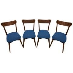 Midcentury Beech Dinning Chairs, Czechoslovakia, 1950s