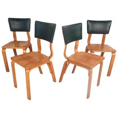 Midcentury Bentwood Chairs by Thonet, Set of 4