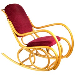 Midcentury Bentwood Rocking Chair from TON, 1960s