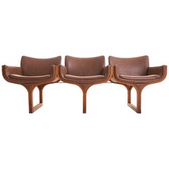 Midcentury Bentwood Sculptural Arthur Umanoff Three-Seat Bench