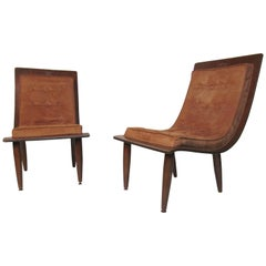 Midcentury Bentwood Slipper Chairs