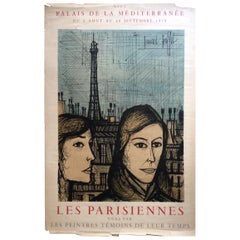 "Midcentury Bernard Buffet ""Les Parisiennes"" Mourlot Art Exhiibition Poster"