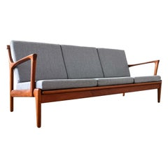 Midcentury Bertil Fridhagen Sofa Model Kuba by Bröderna Andersson in Sweden