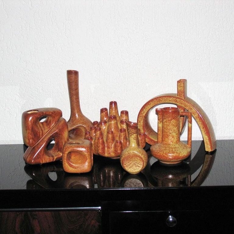 Midcentury Bertoncello Italian Ceramic Vases For Sale 1