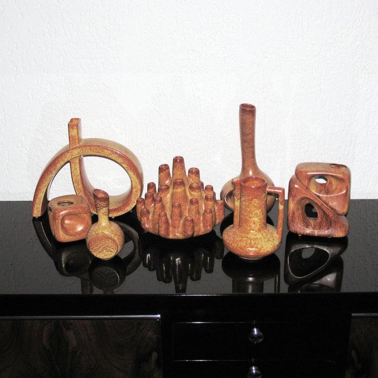 Midcentury Bertoncello Italian Ceramic Vases For Sale 2