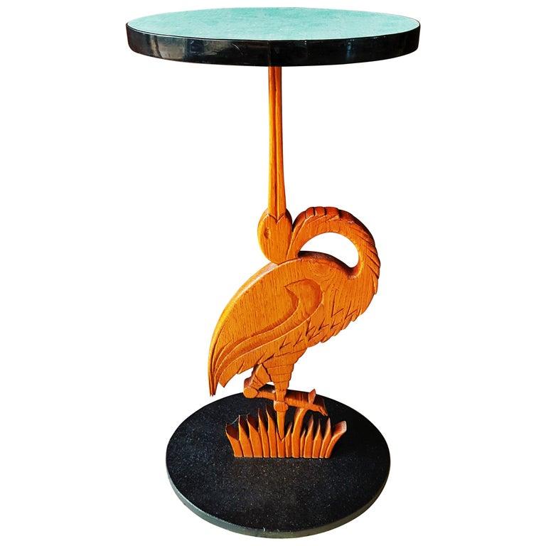 Midcentury Bird Side Table, Denmark, 1960s