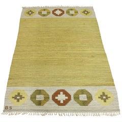 Midcentury Birgitta Södergren Flat-Weave Carpet, 1950s