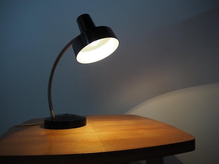 Midcentury Black Bakelite Table Lamp, Czechoslovakia, 1960s For Sale 8