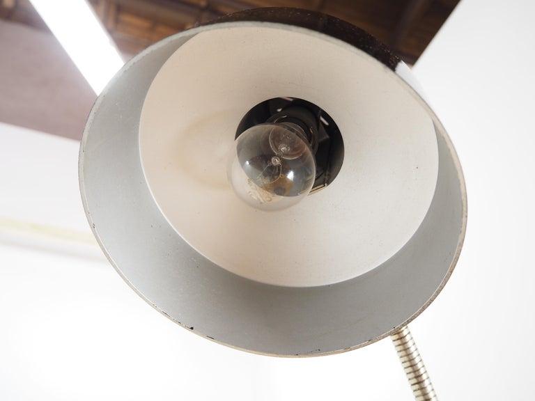 Midcentury Black Bakelite Table Lamp, Czechoslovakia, 1960s For Sale 3
