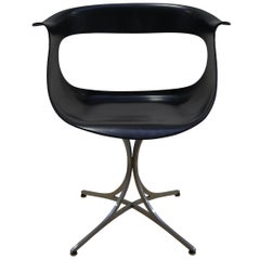 Midcentury Black Lotus Armchair by Erwine and Estelle Laverne, 1960s US