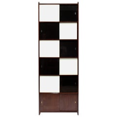 Midcentury Black and White Cabinet, 1970