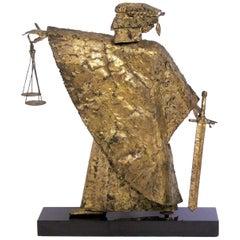 Midcentury Blind Justice Sculpture