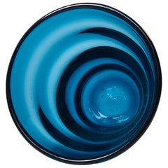 Midcentury Blue Capri Glass Vase by Jacob E. Bang for Holmegaard, 1961