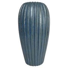 Midcentury Blue Floor Vase by Vicke Lindstrand, 1950s, Sweden