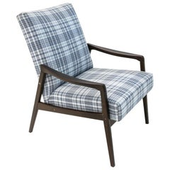 Midcentury Blue Retro Armchair