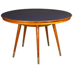 Midcentury Blue Top Dining or Center Table in the Style of Gio Ponti