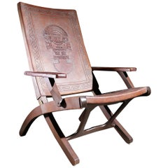 Midcentury Boho Style Angel Pazmino for Muebles De Estilo folding chair, 1960