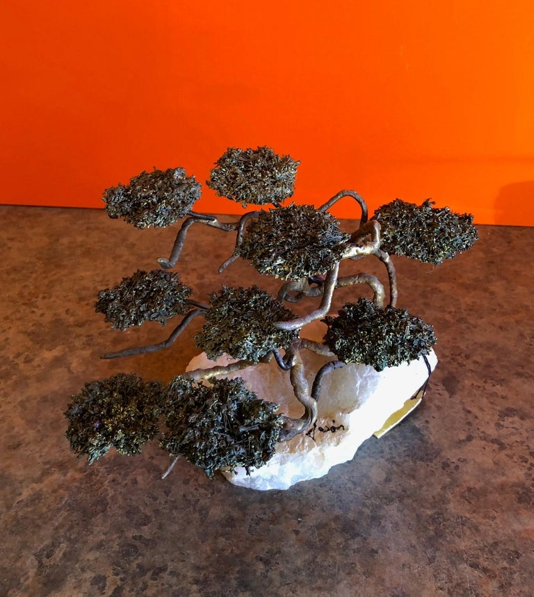 Midcentury Bonsai Tree Sculpture by Mario Jason In Good Condition For Sale In San Diego, CA