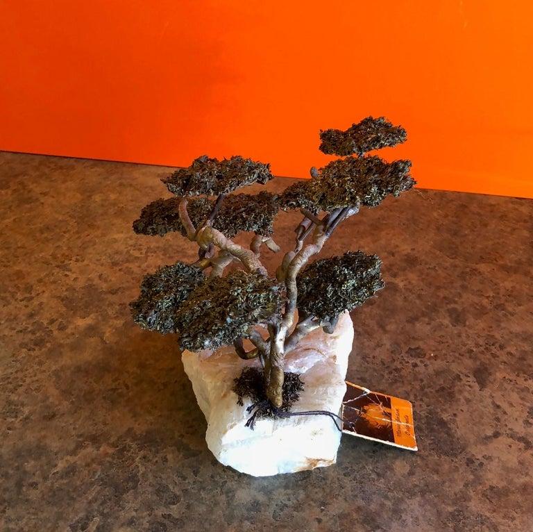 Brass Midcentury Bonsai Tree Sculpture by Mario Jason For Sale