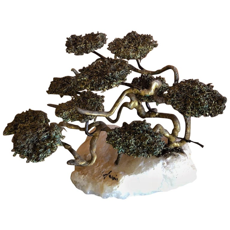 Midcentury Bonsai Tree Sculpture by Mario Jason For Sale