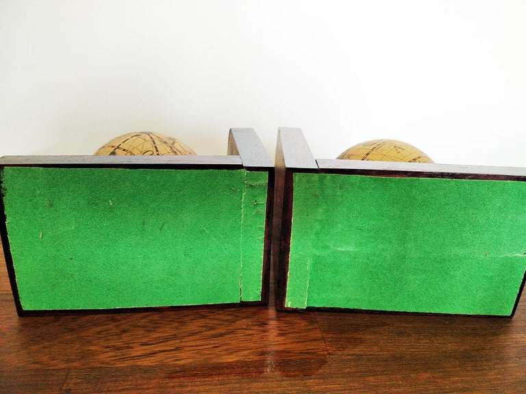20th Century Midcentury Bookends World Globe For Sale