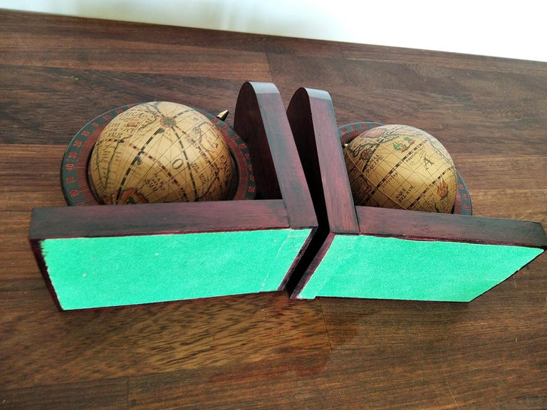 Midcentury Bookends World Globe For Sale 1