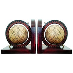 Mid century Bookends World Globe