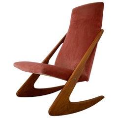 Midcentury Boomerang Rocking Chair by Mogens Kold, 1960s