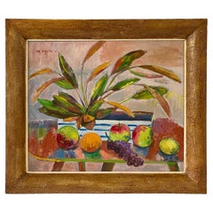 Midcentury Botanical Still Life Painting