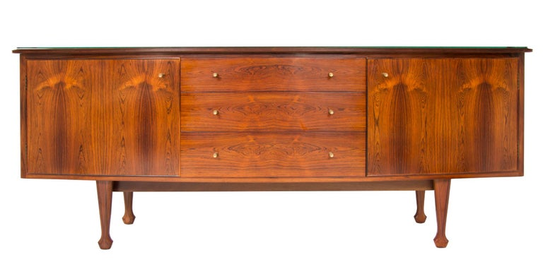 Midcentury Bow Front Sideboard by Andrew J Milne For Sale 1