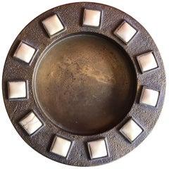 Midcentury Brass and Bone Dish / Ashtray