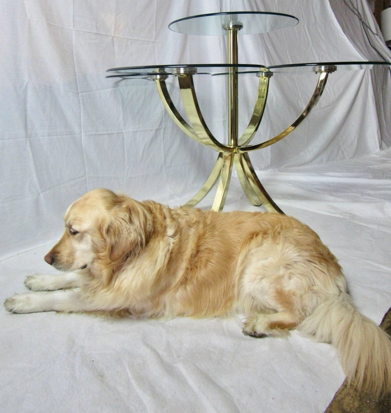 DIA, Design Institute of America Circle of Life Brass Dining Table 1970s For Sale 3