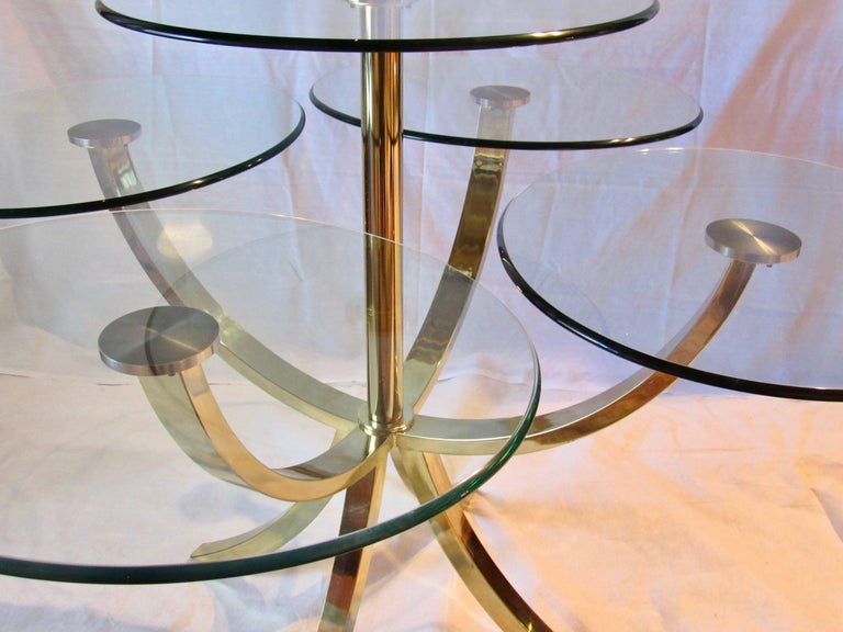 Polished DIA, Design Institute of America Circle of Life Brass Dining Table 1970s For Sale