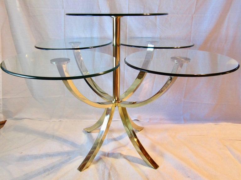 DIA, Design Institute of America Circle of Life Brass Dining Table 1970s In Good Condition For Sale In Camden, ME