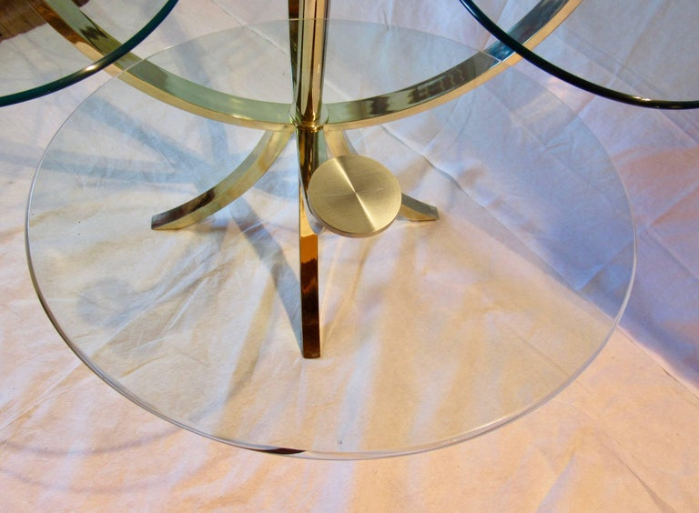 Late 20th Century DIA, Design Institute of America Circle of Life Brass Dining Table 1970s For Sale