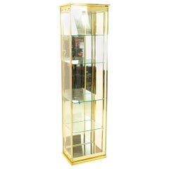 Midcentury Brass and Glass Display Cabinet