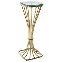 Midcentury Brass and Glass Table