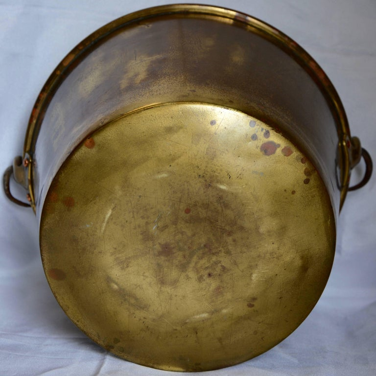 20th Century Brass Bucket with Handle from France Midcentury For Sale