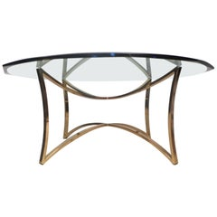 Midcentury Brass Coffee Table