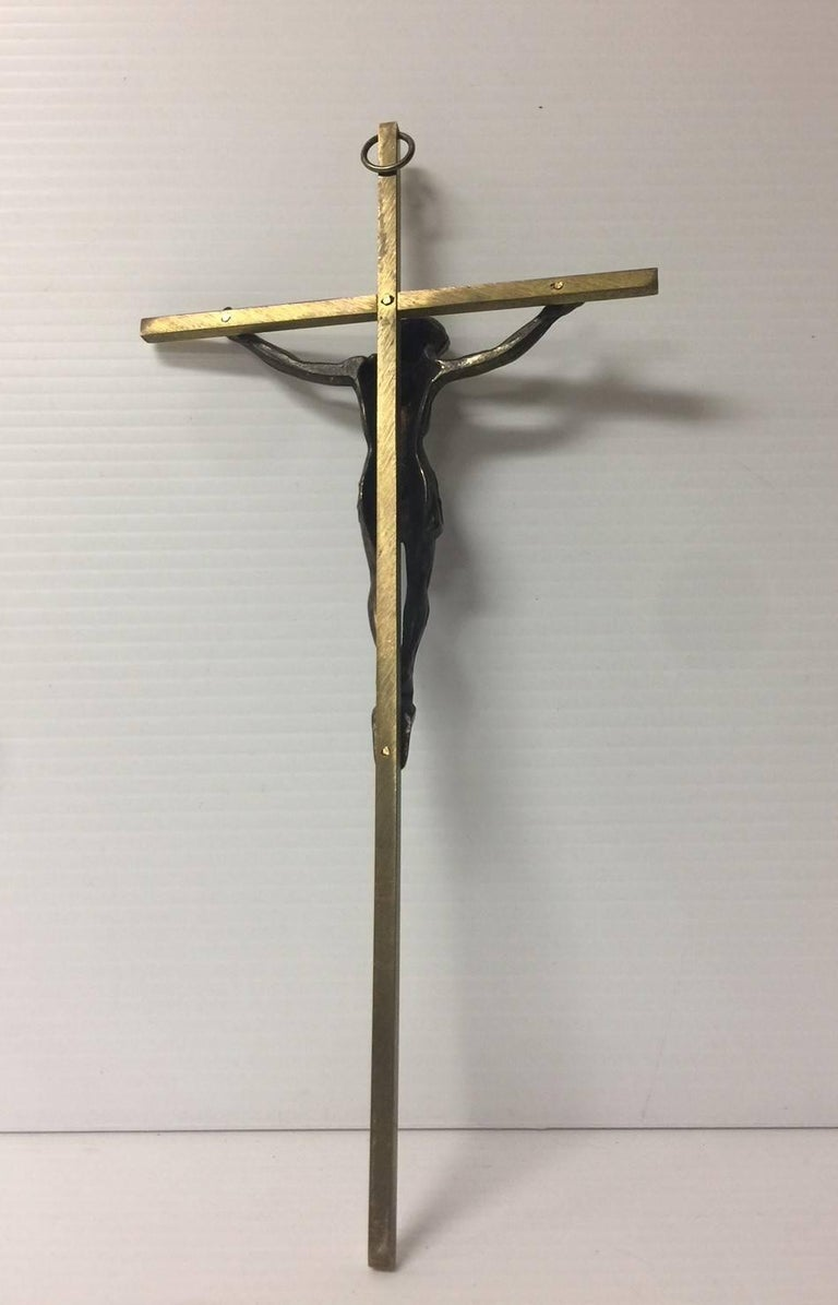 A very nice brass crucifix, circa 1960s. Nice weight and detail.