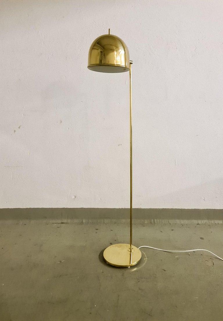 Scandinavian Modern Midcentury Brass Floor Lamp, Model G-075, Bergboms, Sweden, 1960s For Sale