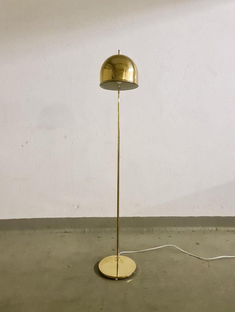 Swedish Midcentury Brass Floor Lamp, Model G-075, Bergboms, Sweden, 1960s For Sale