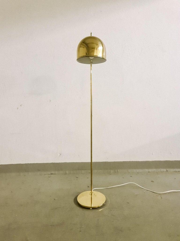 Midcentury Brass Floor Lamp, Model G-075, Bergboms, Sweden, 1960s In Good Condition For Sale In Langserud, SE