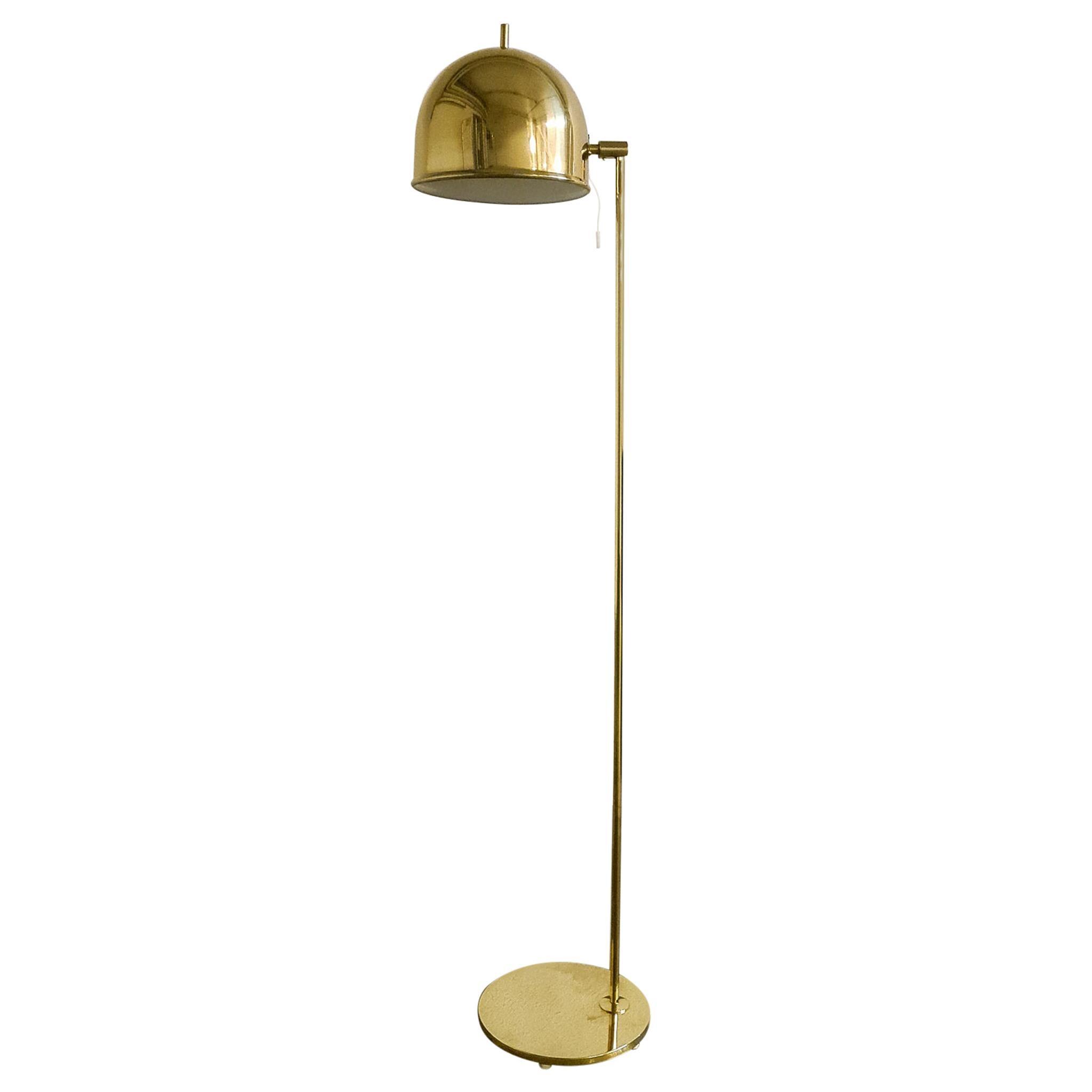 Midcentury Brass Floor Lamp, Model G-075, Bergboms, Sweden, 1960s