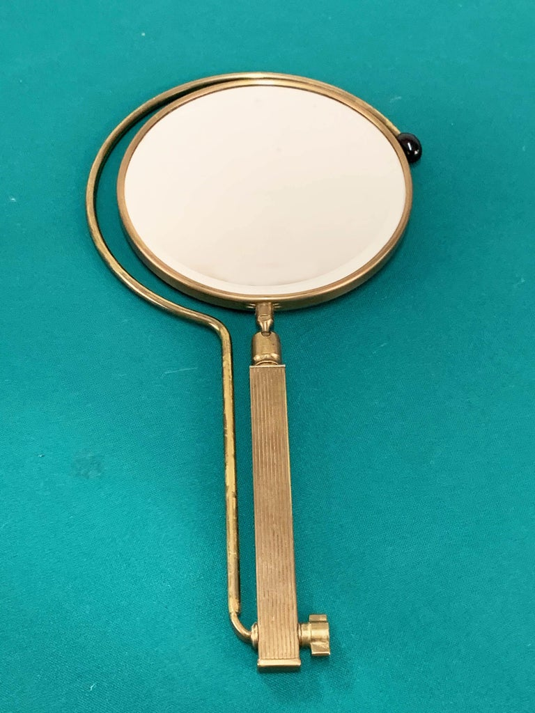 Midcentury Brass French Adjustable Table Mirror with a Two-Sides Stand, 1950s For Sale 5