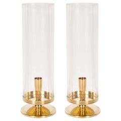 "Midcentury Brass ""Hurricane"" Candlesticks by Tommi Parzinger for Dorlyn Brass"