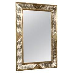 MidCentury Brass Italian Mirror, 1970